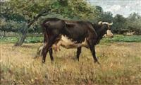 vache dans un pré by léon barillot