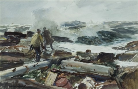 working the shoreline by john whorf