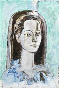 portrait de geneviève vuillez by françoise gilot