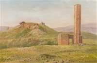 landscape with ruins by georgiy zakharovich bashinzhagyan