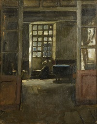 the breton needleworker by norman garstin