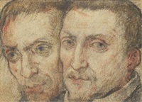 the heads of two men by federico zuccaro