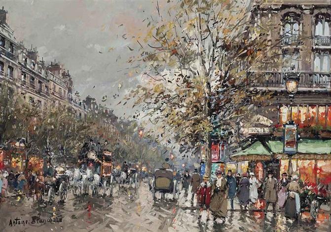 the café de la paix boulevard des capucines paris by antoine blanchard