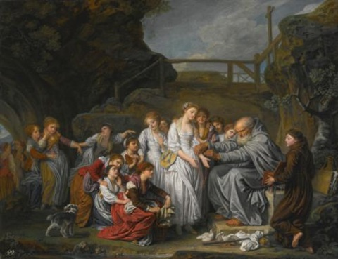 the hermit or the distributor of rosaries by jean baptiste greuze
