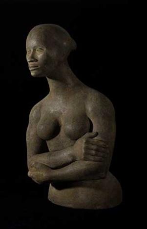 torso portrait of joan by elizabeth catlett