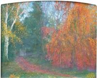forêt en automne by olga metchnikoff