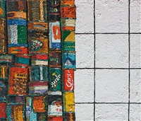 composition aux canettes et carreaux by alexandr popov