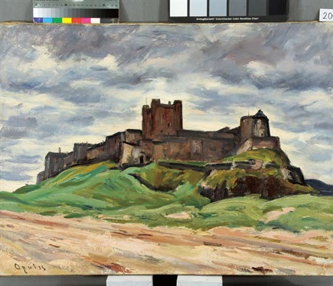 bamburgh castle by takanori oguiss