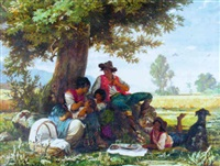noon under the shade tree by arnoldo corrodi