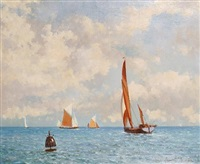 thames barges in the medway by hugh boycott-brown