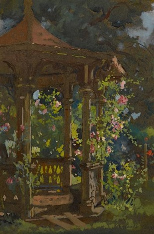 summer eve the gazebo by colin campbell cooper