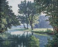 bord de rivière by henri biva