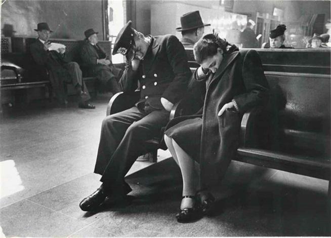 Sleeping Passengers, Greyhound Bus Terminal, New York City