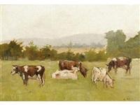 les vaches au pré by hermann moest