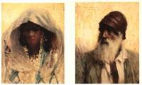 portrait de jeune femme de bou-saâda by georges gasté