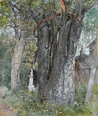 under the old pear tree by mikhail markelovitch gurjavine