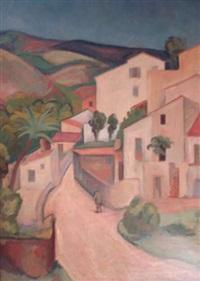 paysage à cagnes by gabriel francisque alexis fournier