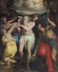 the baptism of christ by orazio samacchini