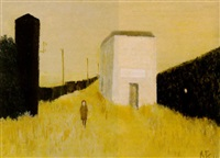 two figures on an empty road by metten koornstra