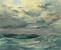 houles croisées, la mer s'amortit by pierre fleury