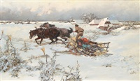 the sleigh ride by jaroslav friedrich julius vesin