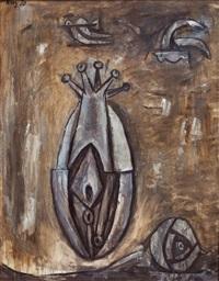 formas abstractas con palomas by julio alpuy