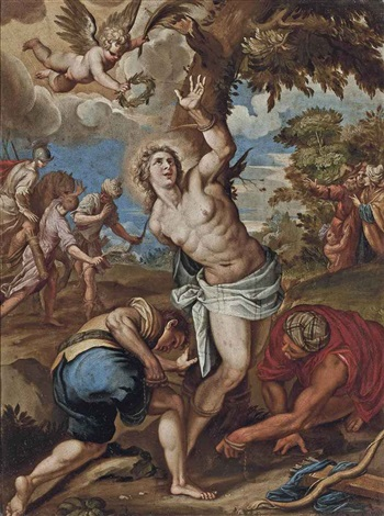 the martyrdom of saint sebastian by jacopo palma il giovane