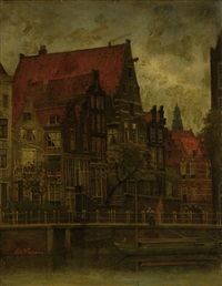 view of the grimburgwal in amsterdam by eduard karsen