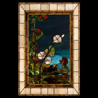 hollyhocks window by john la farge