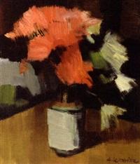 vase fleuri by andré lemaitre