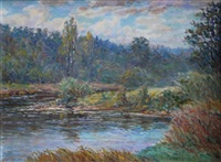 the river in autumn by arnolds spalvins