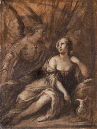 agar nel deserto confortata dall'angelo by carlo francesco nuvolone