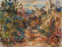 paysage d'automne by karl schmidt-rottluff