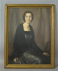 portrait of a woman by george laurence nelson