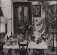 interior with dining table by simone mary bouchard