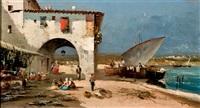 pueblo de pescadores by emilio alvarez moya