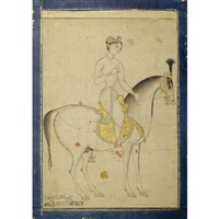 prince danyal riding a horse by muhammad ali