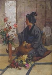 arranging flowers by charles john arter