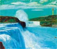 尼加拉瓜大瀑布 (niagara falls) by li shiqiao