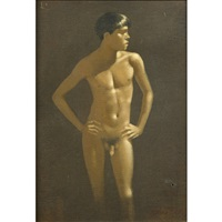 standing male nude by robert r. bliss