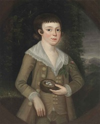 portrait of a boy holding a nest with eggs by american school (18)