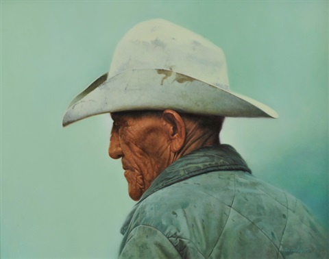 f7b1f75de7315 Indian with cowboy hat by Donald Crowley on artnet