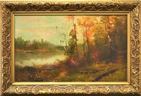 autumn along the river by homer dodge martin