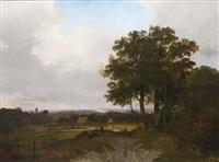 a view of haarlem by hermanus jan hendrik rijkelijkhuysen