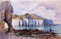 little thornwick bay near flamborough head by william henry millais