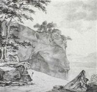 rocky coastal landscape by hendrick danckerts