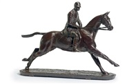 jockey on horse by herbert haseltine