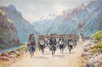 manœuvres dans la haute vallée de l'ubaye (le 159e rég. d'infanterie alpin de briançon) by bernard rambaud