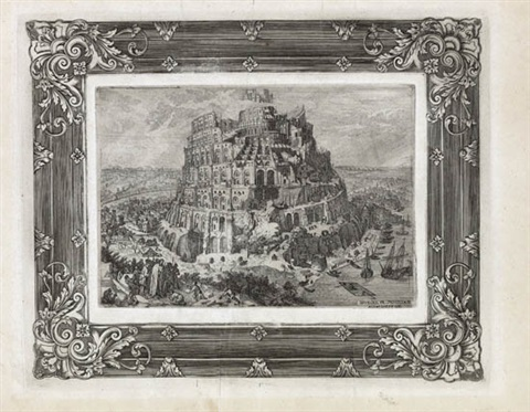 the tower of babel engraved by anton joseph prenner by pieter brueghel the elder
