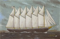 clipper ship portrait by ruth e. merrill